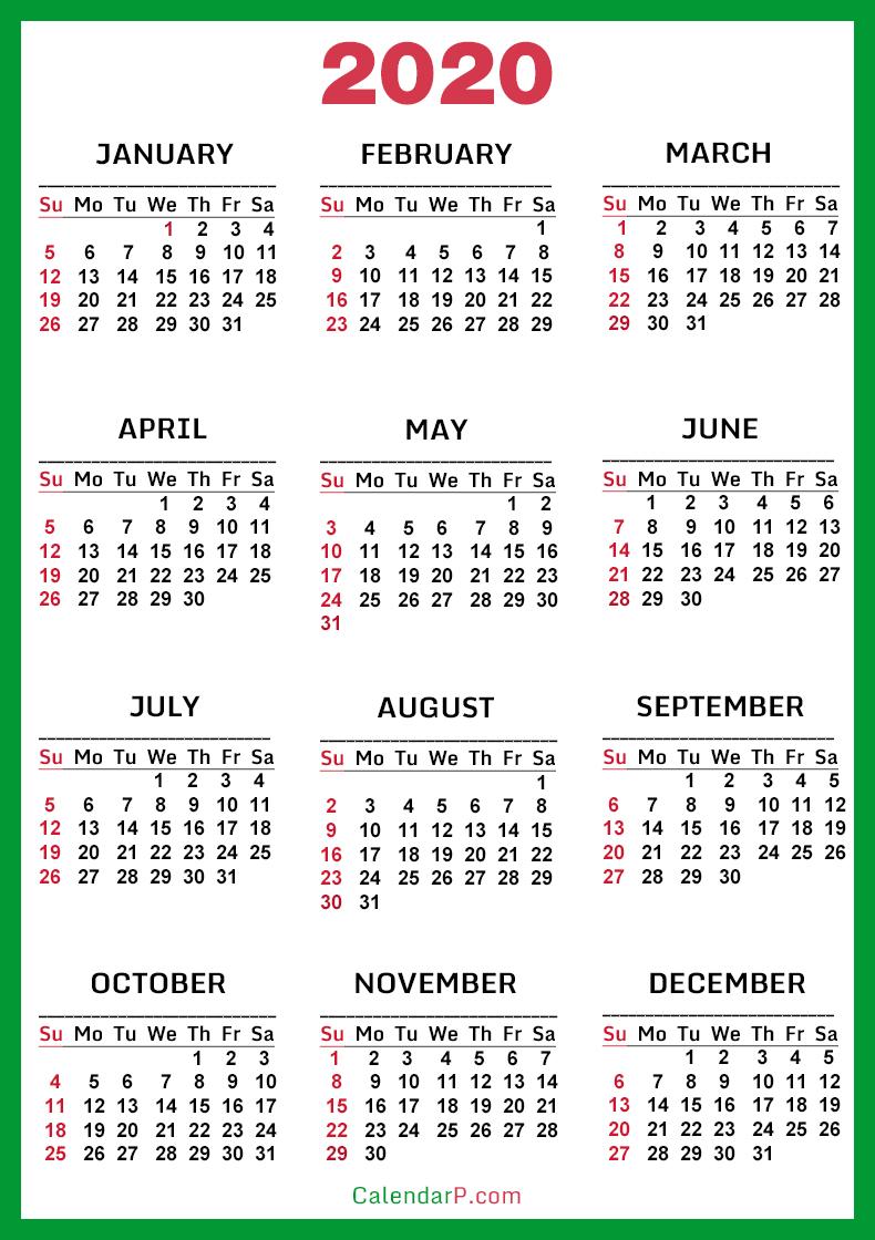 Free Printable Calendar 2020 To 2021